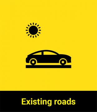 Existing roads