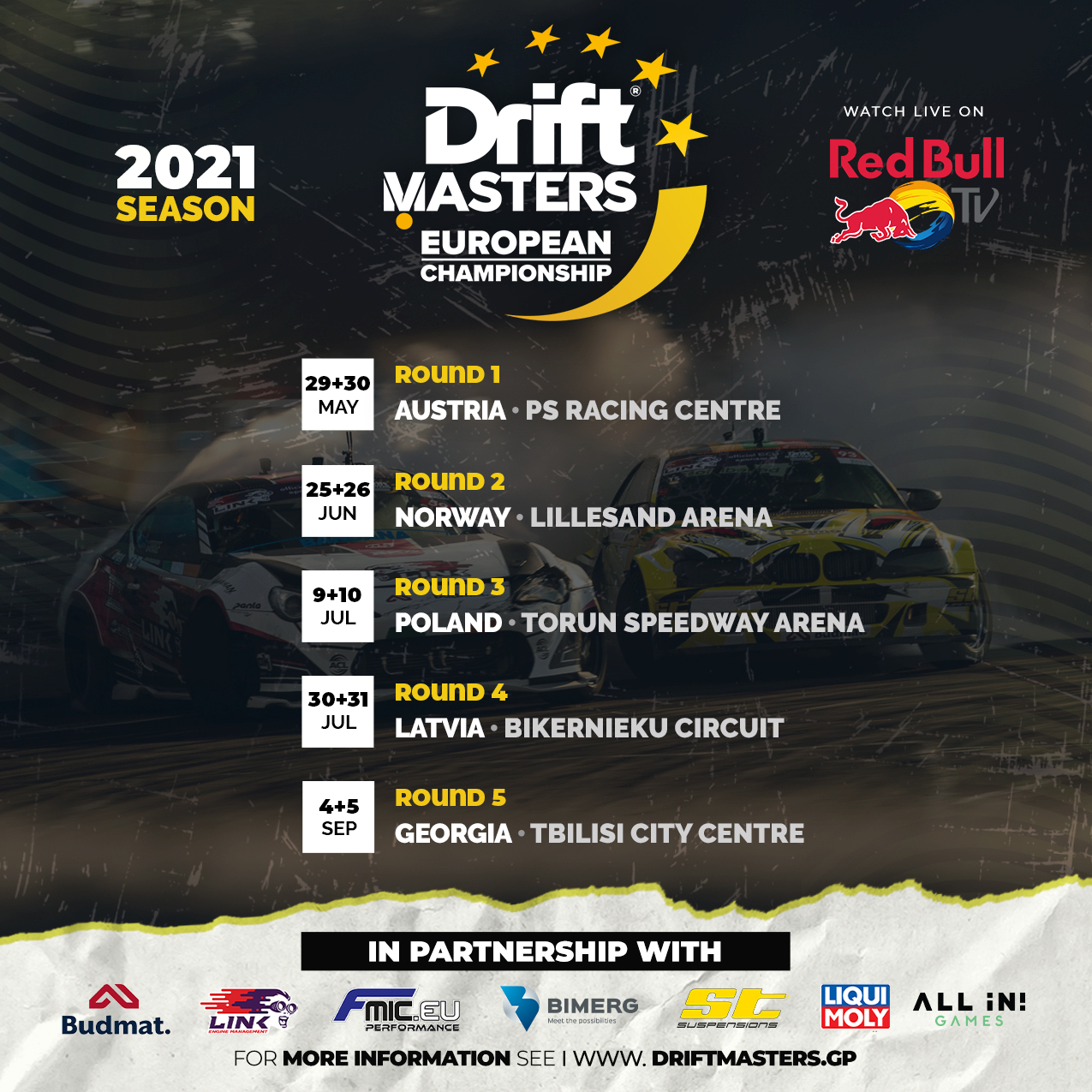 StabilRoad® toetusel: Drift Masters European Championship 2021