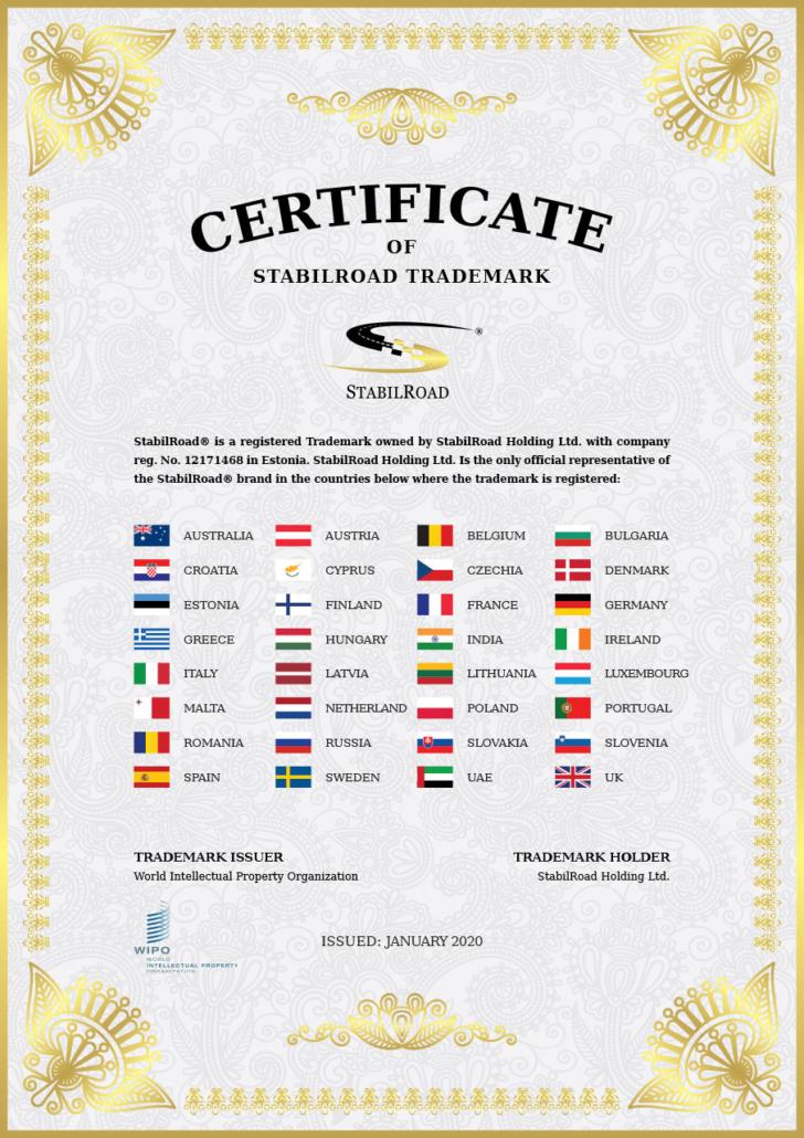 WIPO Certificate